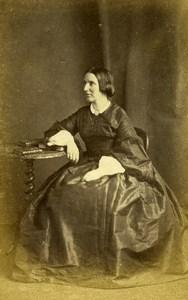 France Paris Woman Western Fashion Crinoline Old CDV Letalle Photo 1860