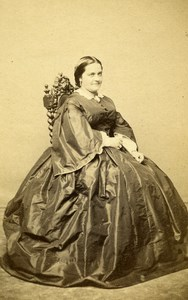 France Paris Woman Western Fashion Crinoline Old CDV Franck Photo 1860