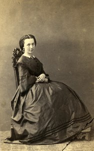 France Paris Woman Western Fashion Crinoline Old CDV Pesme Photo 1860