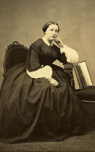 France Paris Woman Western Fashion Crinoline Old CDV Petit Photo 1860