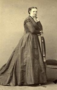 France Paris Woman Western Fashion Crinoline Old CDV Pesme Photo 1860