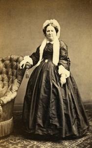 France Paris Woman Western Fashion Crinoline Old CDV Bureau Photo 1860