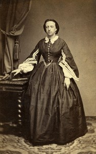 France Paris Woman Western Fashion Crinoline Old CDV Cosse Photo 1860