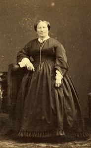 France Paris Woman Western Fashion Crinoline Old CDV Disderi Photo 1860