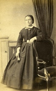 France Paris Woman Western Fashion Crinoline Old CDV Jalabert Photo 1860