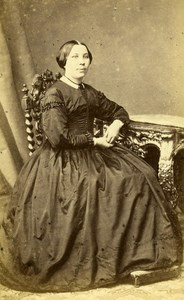 France Pau Woman Western Fashion Crinoline Old CDV Subercaze Photo 1860
