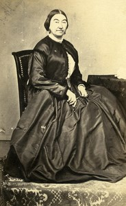 France Vichy Woman Western Fashion Crinoline Old CDV Brears Photo 1860