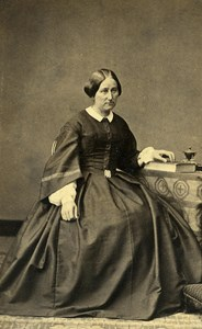 France Orleans Woman Western Fashion Crinoline Old CDV Monvel Photo 1860