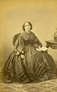 France Pau Woman Western Fashion Crinoline Old CDV Subercaze Photo 1860