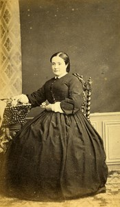 France Bayonne Woman Western Fashion Crinoline Old CDV Guyot Photo 1860
