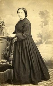 France Toulouse Woman Western Fashion Crinoline Old CDV Provost Photo 1860