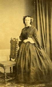 France Chateauroux Woman Western Fashion Crinoline Old CDV Verdot Photo 1860