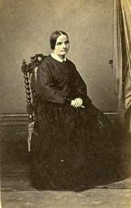 France Paris Woman Western Fashion Crinoline Old CDV Anonymous Photo 1860