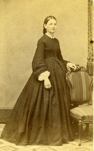 USA New York Portrait Standing Woman Old Jordan & Co Bogardus CDV Photo 1860's