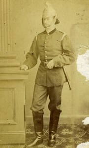 France Portrait Man Military Uniform Old Photo 1860's
