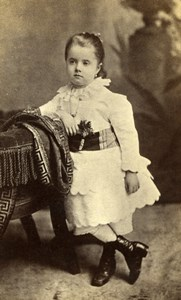 New York Portrait Young Girl Child Old Benjamin J. Falk CDV Photo 1880's