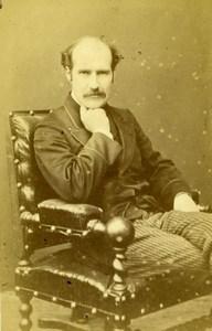 France Portrait Man Second Empire Fashion Old Berthaud CDV Photo 1870