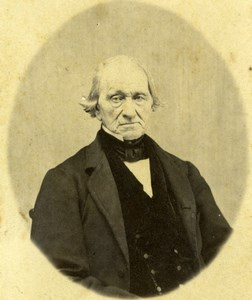 USA Brockton Older Man Portrait Old D.T. Burrell CDV Photo 1860's
