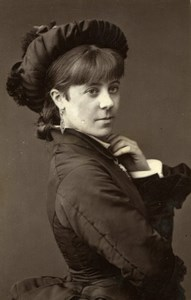 London Stage Actress Nellie Farren Gaiety Theatre Woodburytype CDV Photo 1880