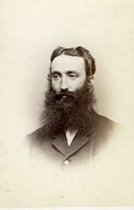Australia Melbourne Portrait Bearded Man Old Batchelder CDV Photo 1860's