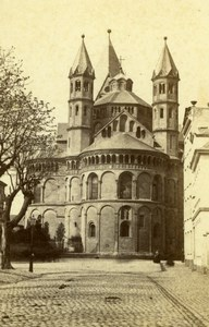 Germany Cologne Basilica of the Holy Apostles Neumarkt Old CDV Photo 1860's