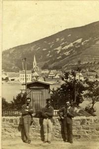 Germany Assmannshausen by the Rhine Old Hippolyte Jouvin CDV Photo 1860's