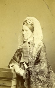 Baroness Angela Burdett-Coutts Old London Stereoscopic Co. CDV Photo 1860's