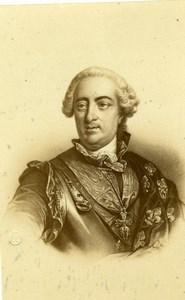 French King Louis XV Portrait Old Desmaisons CDV Photo 1860's