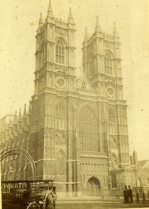Westminster Abbey London North Western Pickfords Coach Fred Jones CDV Photo 1870