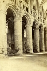 Gloucester Cathedral Norman Arches in Nave Old G.W. Wilson CDV Photo 1866