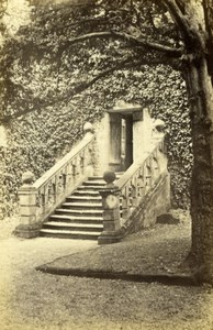 Derbyshire Bakewell Haddon Hall Stone Stairs Old J. Clark CDV Photo 1870