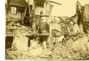 France Ruines de Paris Commune Auteuil House Ruins Old CDV Photo 1870's