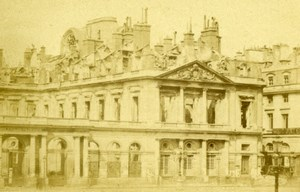 France Ruines de Paris Commune Palais Royal Ruins Old CDV Photo 1870's
