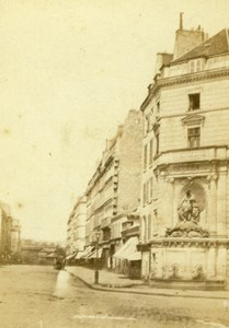 France Paris Fontaine Cuvier rue Linné Old Charles Gaudin CDV Photo 1860