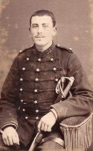 Chalons sur Marne Man in Military Uniform Old Durand CDV Photo 1880