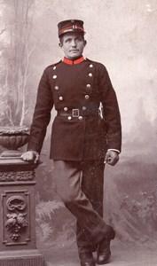 Denmark Aarhus Man in Military Uniform Old Borch CDV Photo 1900