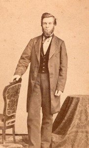 USA New York Man Victorian Fashion Old CD Fredricks CDV Photo 1870