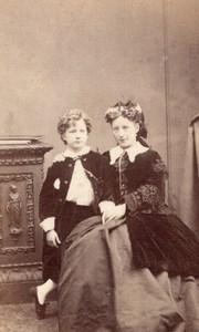 London Mother & Child Victorian Fashion Old Naudin CDV Photo 1870