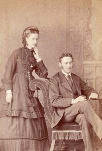 Ashford English Couple Victorian Fashion Old Kingsmill CDV Photo 1880