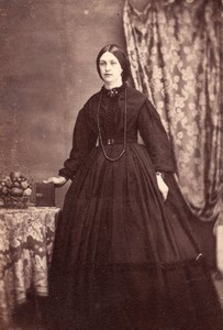 Ireland? Irish or English Woman Victorian Fashion Old CDV Photo 1870