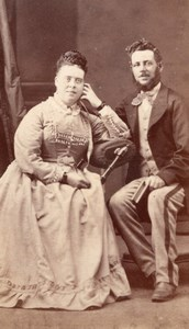 Ontario St Thomas Couple Victorian Fashion Old Cooper CDV Photo 1880