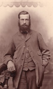 Canterbury Bearded English Man Victorian Fashion Old Bateman CDV Photo 1880