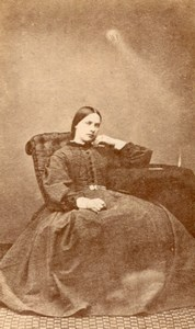 Londres Dulwich Femme Anglaise Mode Victorienne Ancienne Photo CDV Pimlico 1880