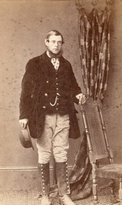 Wye Kent Homme Anglais Mode Victorienne Ancienne Photo CDV Stovell 1880