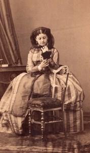France Paris Stage Actress Manuela Theatre Old Disderi CDV Photo 1860