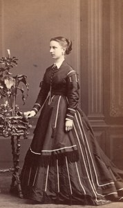 Paris English? Lady Aristocracy ? Victorian Fashion Old Levitsky CDV Photo 1860