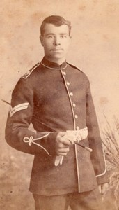 Salisbury Man in Military Uniform Old Witcomb CDV Photo 1880