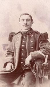 Chaumont Man in Military Uniform Old Lancelot CDV Photo 1900