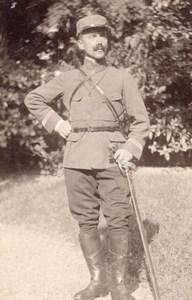 Allemagne? Homme en Uniforme Militaire Ancienne Photo CDV 1910