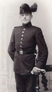 Allemagne Dresden Homme en Uniforme Militaire Ancienne Photo CDV Max Baum 1900